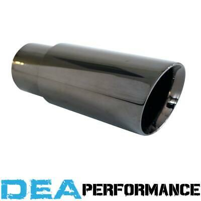Dea Black Chrome-Double Walled Angle Cut Exhaust Tip 2.5'' Inlet