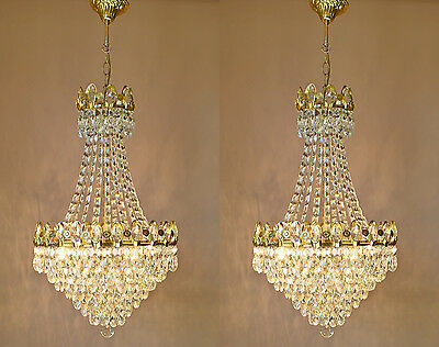 Sale Matching Vintage Lamp Antique French Crystal Pendant Chandelier Lighting