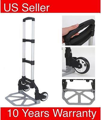 170lbs Folding Dolly Cart Push Hand Truck Moving Warehouse Platform Trolley OB
