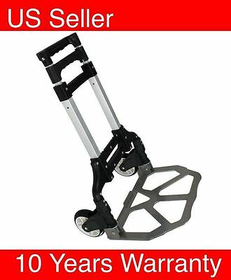 170lbs Aluminium Cart Folding Dolly Push Truck Hand Collapsible Trolley LuggageS