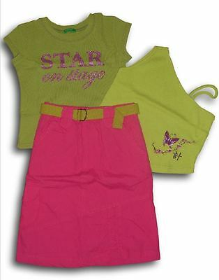 Lotto stock set gonna t-shirt top IANA BENETTON EFRATIS bimba bambina 4 anni