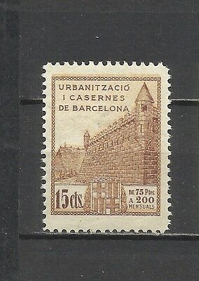 44-Fiscal Antiguo Barcelona 15 Centimos Guerra Civil Nuevo Mnh **local