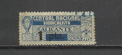 707-Sello Local Guerra Civil 1938 Alicante Falange C.n.s.1 Pta.spain Civil War.