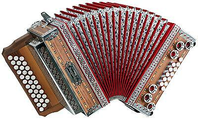 Accordeon Professionnel 33 Touches 12 Boutons Helicon Basse Voies Sol-Do-Fa Set