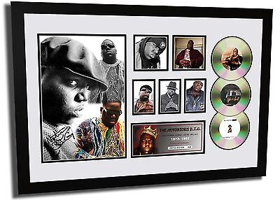 New The Notorious B.i.g. Biggie Smalls Signed Limited Edition Framed Memorabilia