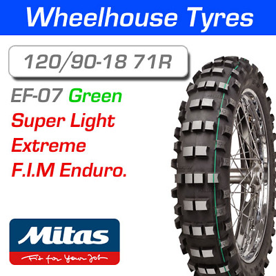 Mitas EF-07 Super Light 120/90-18 71R F.I.M Enduro Green Stripe