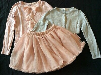 Girl's H&M 3 Pc Top , Skirt & Cardigan Set size 7-8 years