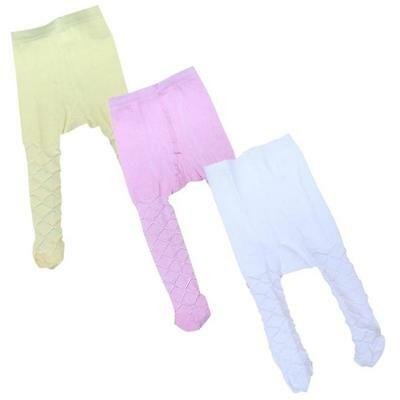 Baby Clothes Infant Girls Christening Party Pink White Cream Tights - imp