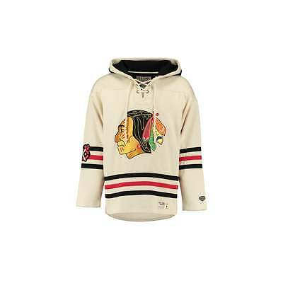 Old Time Hockey NHL Chicago Blackhawks White Vintage Lacer Jersey Hood