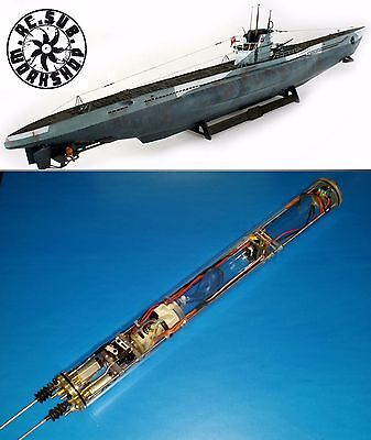 RTR WTC Fro 1/72 REVELL U-boat VIIC SUB ( Include Copper Prop+Shaft+ Rudder )