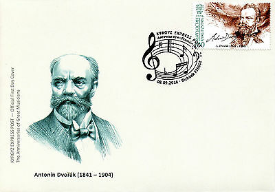 Kyrgyzstan KEP 2016 FDC Great Musicians Dvorak 1v Set Cover Composers Stamps