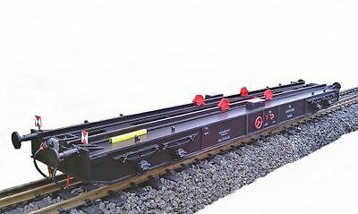 Transport wagon for Locomotives and The dare G Gauge to Regular track Rails I