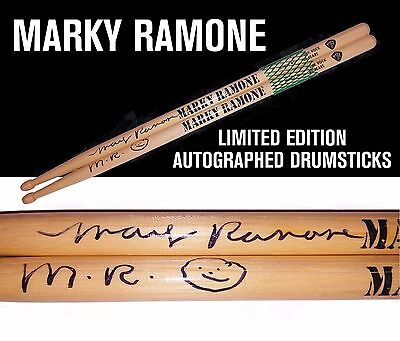 Marky Ramone Limited Edition Autographed Drumsticks