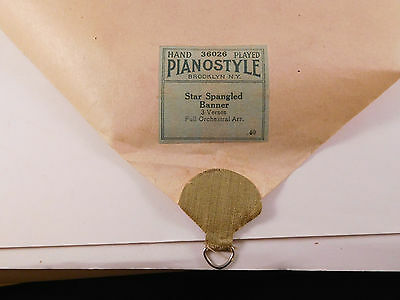 STAR SPANGLED BANNER - PIANOSTYLE Player Piano Roll 36026-Full Orchestra Arrang