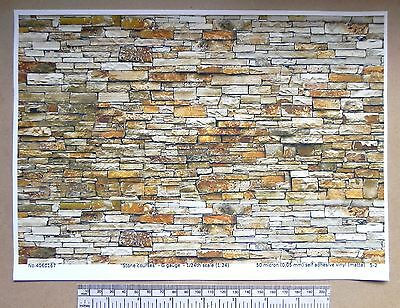 G gauge (1:24 scale) stone courses self adhesive vinyl - A4 sheet