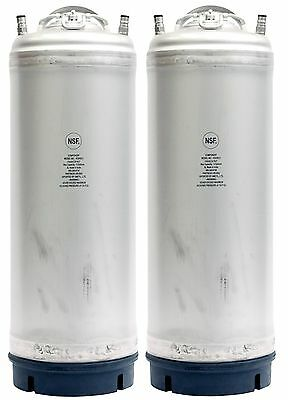 Homebrew Corny Kegs Draft Beer - 2 Pack 5 Gallon Ball Lock Kegs New w/Blemishes