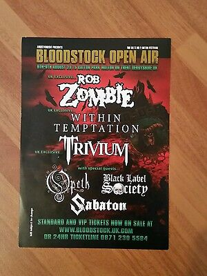 BLOODSTOCK OPEN AIR FESTIVAL: 2015 Flyer Feat. ROB ZOMBIE, WITHIN TEMPTATION...