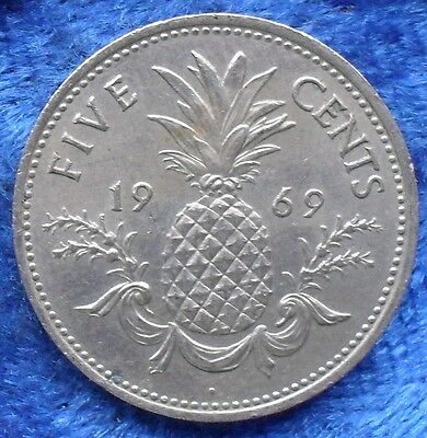 BAHAMAS - 5 cents 1969 KM# 3 Commonwealth Elisabeth II 1952-73 - Edelweiss Coins
