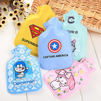 Cute Cartoon Hot Water Bottle Bag Warm Relaxing Heat Cold Therapy Kids Xmas Gift