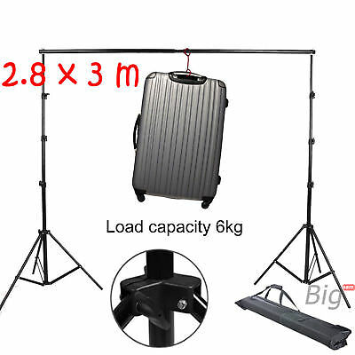 3m x 2.8m Photography Studio Background Backdrop Stand Photo Lighting 10ft x 9ft