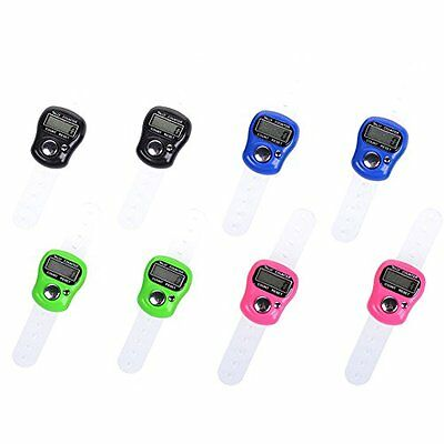Cosmos® 8 Pcs Case Resettable 5 Digit LCD Electronic Finger Counter Hand Tally
