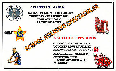 Ticket - Swinton v Keighley 04.08.11