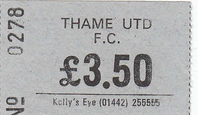 Ticket - Thame United v Witney 23.09.1995 FA Cup Qualifier