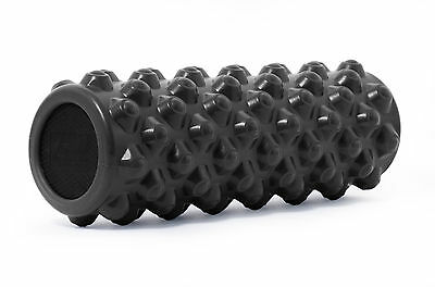"ProSource Bullet Sports Muscle Therapy Firm Massage Foam Roller 14""x 5"" Black"