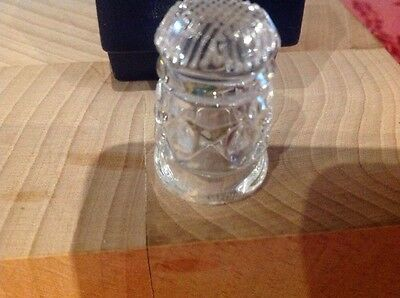 Heavy WATERFORD Crystal Cut Glass Thimble