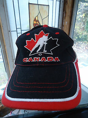 TEAM CANADA Hockey Cap Hat adjustable velcro Gertex