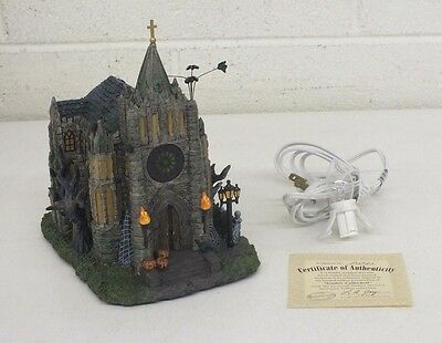 Universal Studios Monsters Hawthorne Village 'Gothic Cathedral' Figure EXCELLENT