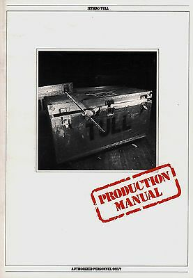 Jethro Tull 1982 Broadsword And The Beast Tour  Concert Program Book