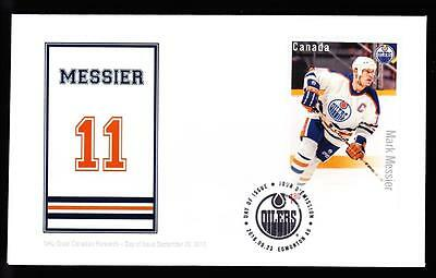 Canada 2016 NHL Forwards-Messier, rare OFDC Souvenir Sheet, limited edition