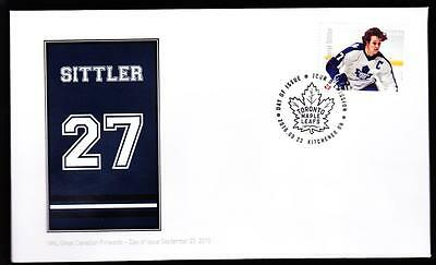 Canada 2016 NHL Forwards-Sittler, rare OFDC booklet single, limited edition
