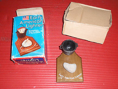 Early American Lighter Cast Iron Kettle And Rock 1976