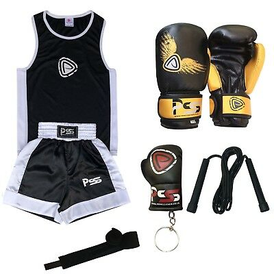 New Kids boxing set of 2 pieces top & shorts age (5-12 years) boxing gloves 1005