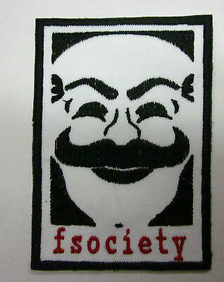 fsociety Mr Robot Iron or Sew on Patch FREE NORTH AMERICA SHIPPING