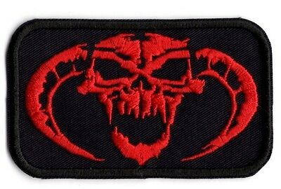 Reaper demon skull Patch Embroidered Iron on FREE NORTH AMERICA SHIPPING