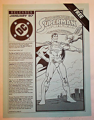 DC Releases No. 32 Adventures of Superman January 1987 DC Comics promo Ordway
