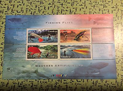 Canada Sc#2087 Fishing Flies  Mnh S/s