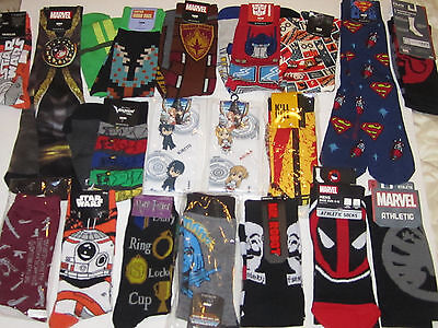 Loot Crate Exclusive Amazing Variety of Monthly Themed Socks from all crates NEW