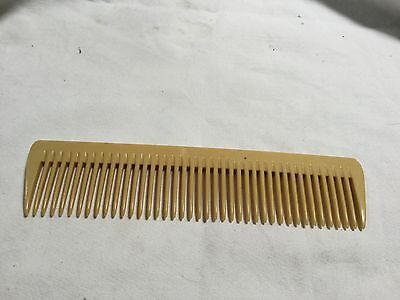Vintage Bone Hair Comb Made In England Great Condition