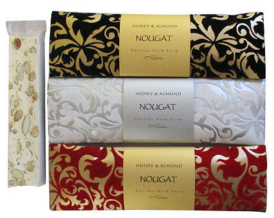 Thurlby Honey & Almond Nougat In Beautiful Velvet Gift Packaging.