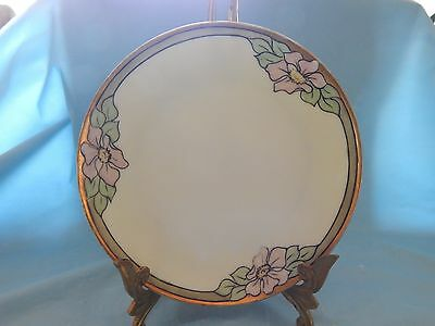 Thomas Sevres Bavaria Plate Green Gold and Floral Pattern