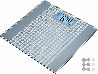 Beurer Glaswaage LCD 150kg 100g GS 206 Squares