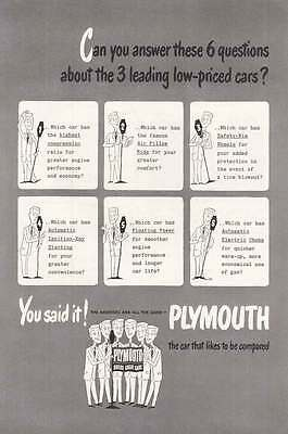 1949 Plymouth: Can You Answer These Print Ad (20045)