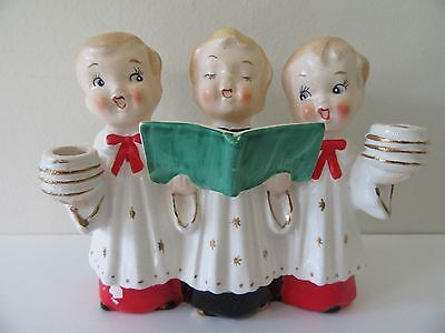 Vintage Commodore Christmas Chior Candle Holder Carolers Mid-Century Holiday