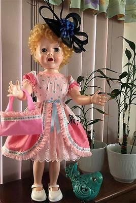 """Special Occassion Outfit for 28"""" Hard Plastic Vintage Pedigree Doll"""
