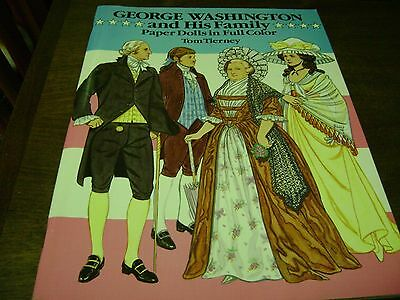 George Washington & His Family Paper Doll Set...Tom Tierney...NEW