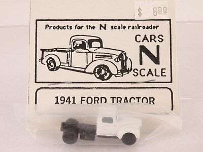 Custom Built N-Scale Resin Vehicle 1941 '41 Ford Tractor Truck White Cab